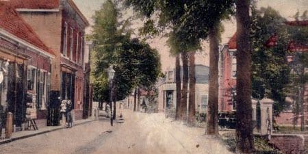 De-winkel-in-de-Wilhelminastraat-rond-begin 1900