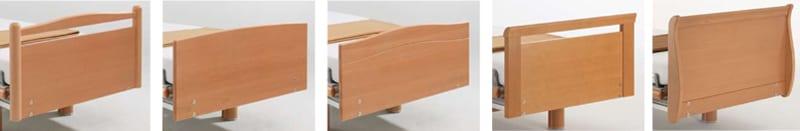 diverse design variaties op zorgbed Völker model 3080