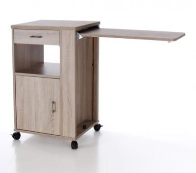 Nachtkastje Care met tafelblad, lade -naar twee zijden te openen- en overige opbergruimte