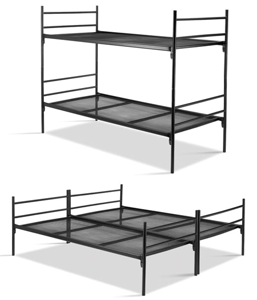 Stapelbed deelbaar, toepasbaar als stapelbed of als twee losse ledikanten