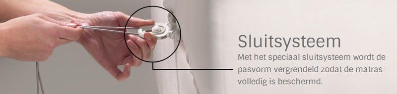 Sluitsysteem van de matrashoezen SmartSleeve