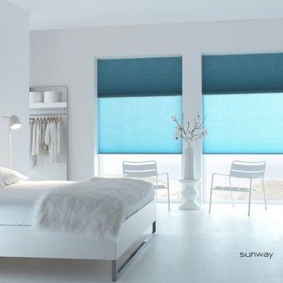 Raambekleding voor de slaapkamer for Raamdecoratie slaapkamer verduisterend