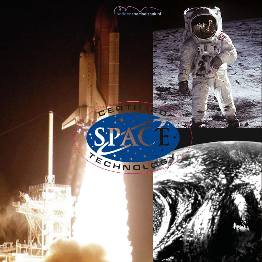 ruimtevaart-NASA-met-certified-stempel-en-logo-beddenspeciaalzaak